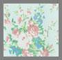 бледно-голубой принт в цветочек