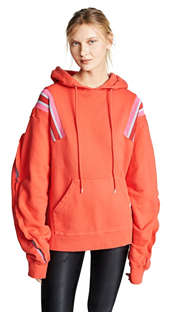 Facetasm Oversized Sports Stripes Hoodie