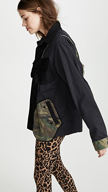 Facetasm Utility Jacket with Camo Pockets