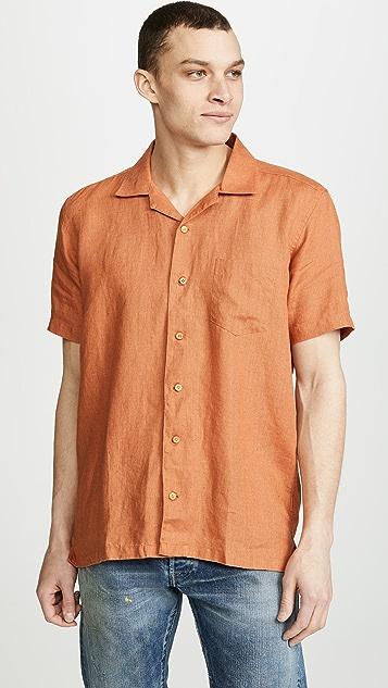 Far Afield Stachio Linen Shirt