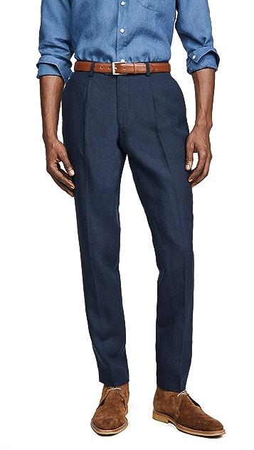 Far Afield Linen Pleat Trousers