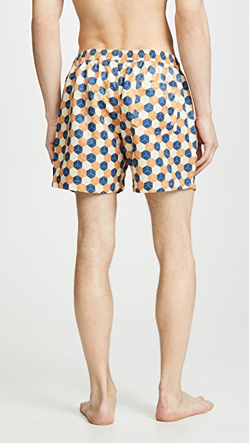Far Afield Printed Swim Shorts