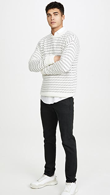 Far Afield Drop Shoulder Flek Knit Sweater