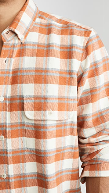 Far Afield Larry Long Sleeve Button Down Plaid Shirt