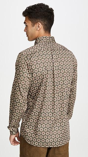 Far Afield Mod Button Down Long Sleeve Shirt