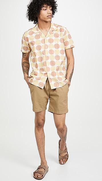 Far Afield Selleck Linen Short Sleeve Shirt