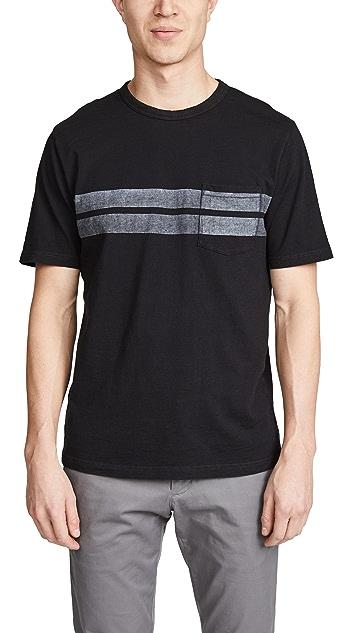 Faherty Twin Stripe Pocket T-Shirt