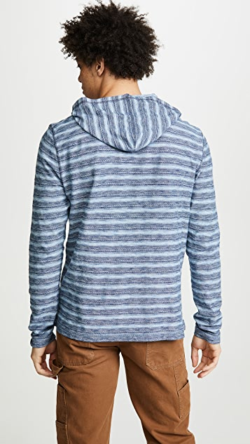 Faherty Long Sleeve Striped Pullover Hoodie