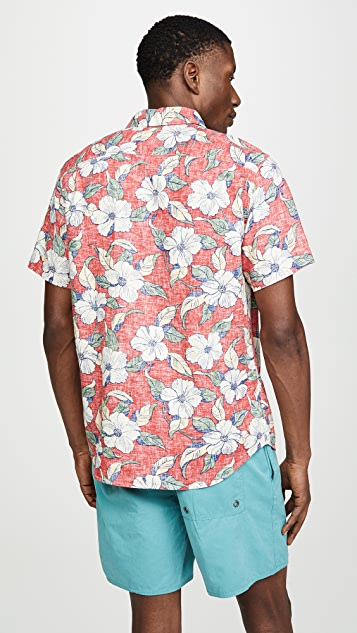 Faherty Rev Print Coast Shirt