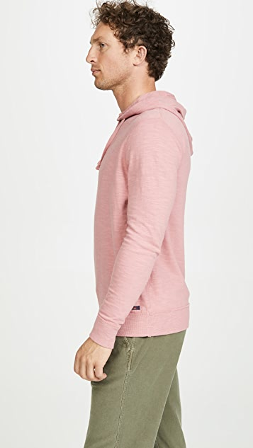 Faherty Slub Cotton Hooded Sweatshirt