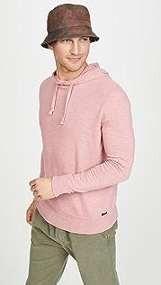Faherty Slub Cotton Hooded Sweatshirt