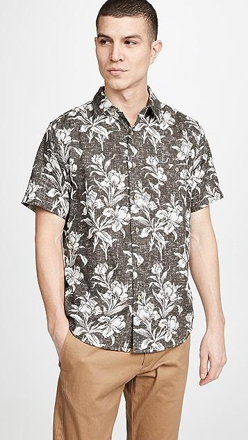 Faherty Rev Print Coast Shirt