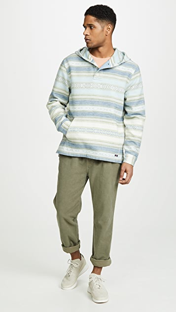 Faherty Long Sleeve Pullover Pacific Poncho Hoodie
