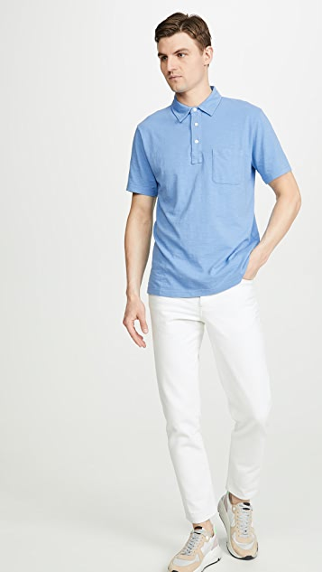 Faherty Sunwashed Short Sleeve Polo Shirt