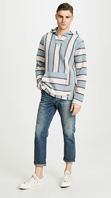 Faherty Pullover Terry Baja Poncho Hoodie