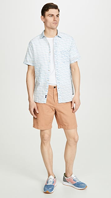 Faherty Short Sleeve Coast Shirt In Epic Peaks Print