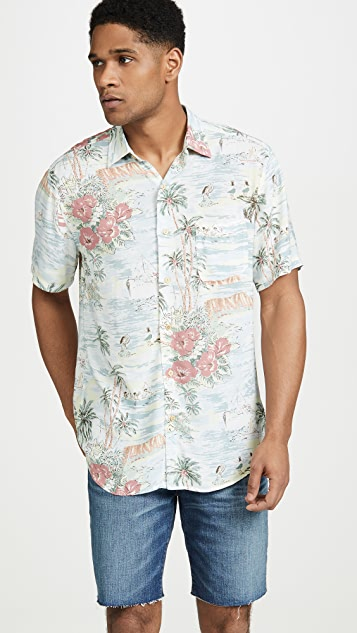 Faherty Short Sleeve Hawaiian Shirt