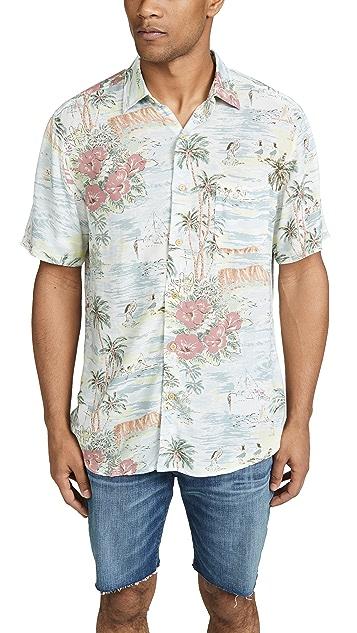 Faherty Short Sleeve Hawaiian Shirt