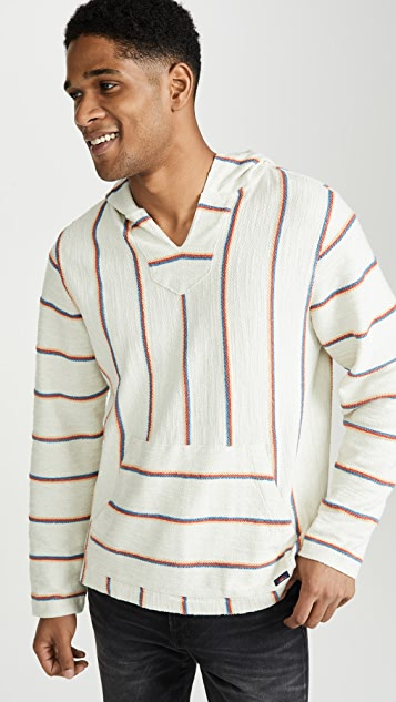 Faherty Terry Striped Baja Poncho