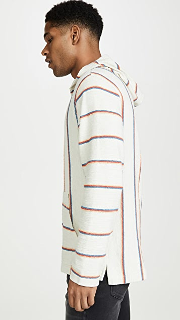 Faherty Terry Striped Baja Poncho