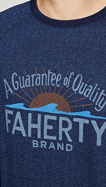 Faherty Logo Crew Neck Tee Shirt