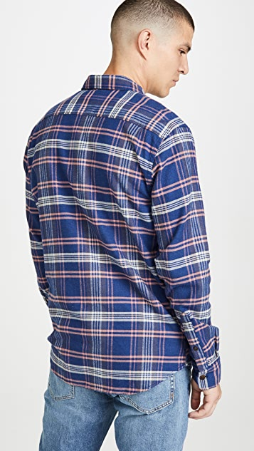 Faherty Long Sleeve Stretch Seasview Flannel