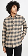 Faherty Long Sleeve Stretch Seaview Flannel Shirt