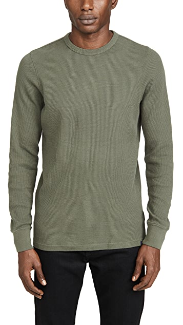 Faherty Long Sleeve Essential Waffle Crew Neck