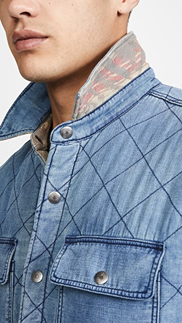 Faherty Reversible Bondi Shirt Jacket