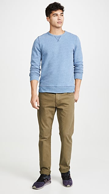 Faherty Birdseye Crew Neck Sweatshirt