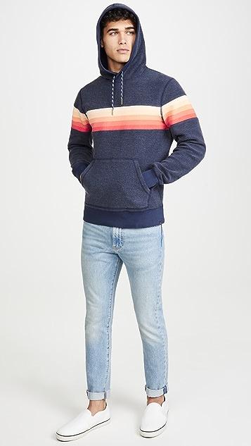 Faherty Gradient Stripe Hoodie