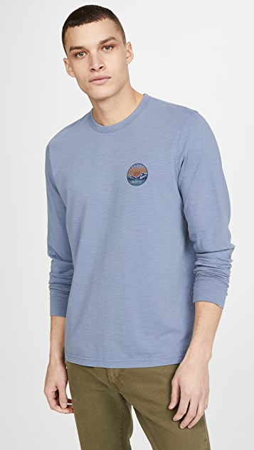 Faherty California Print Long Sleeve T-Shirt