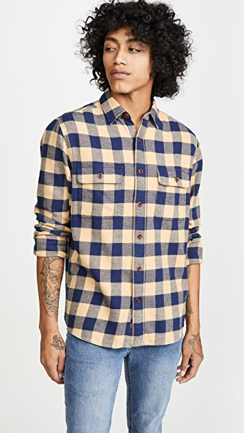Faherty Vintage Twill Flannel Plaid Shirt