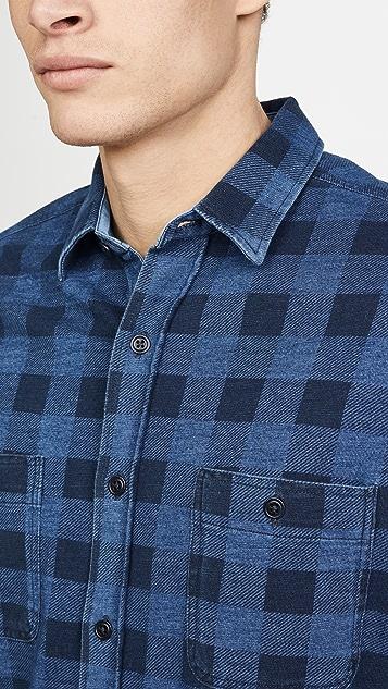 Faherty Buffalo Knit Seasons Flannel Shirt