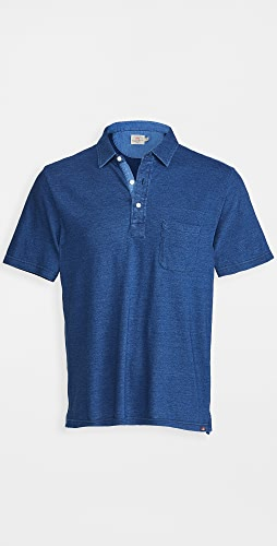 Faherty - Short Sleeve Indigo Polo