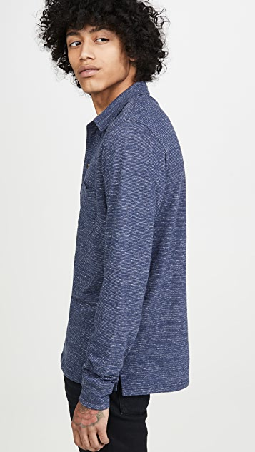 Faherty Luxe Heather Polo