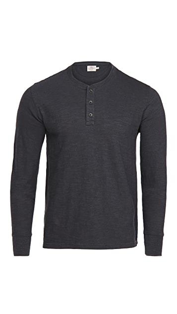 Faherty Slub Cotton Henley Shirt