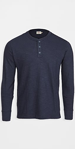 Faherty - Slub Cotton Henley Shirt