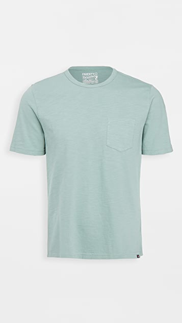 Faherty Sunwashed Pocket Tee