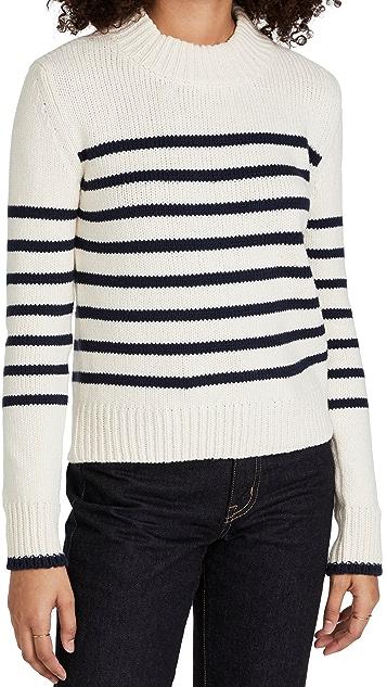 Faherty Cuddle Striped Crew Sweater