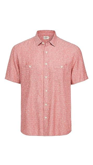 Faherty Short Sleeve Island Work Shirt