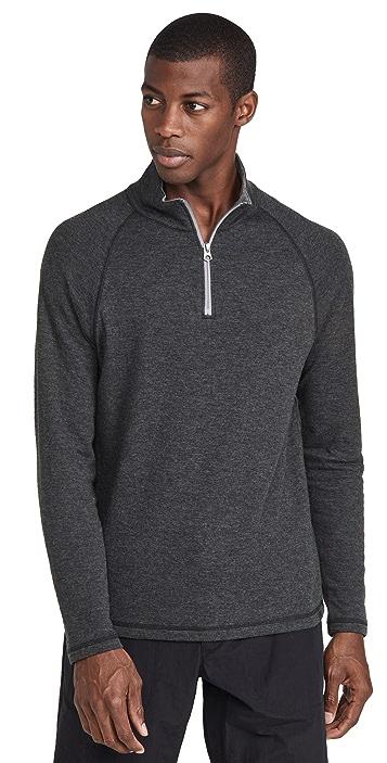 Faherty Cloud Quarter Zip Sweatshirt