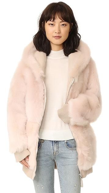 Shopbop Coat Connexion Faith Sweatshirt Over Fur xIqXxpYF