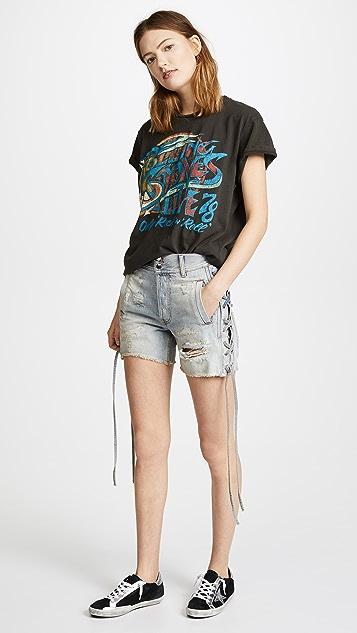 Faith Connexion Laced Denim Shorts