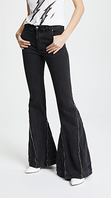 Faith Connexion Zip Flare Jeans