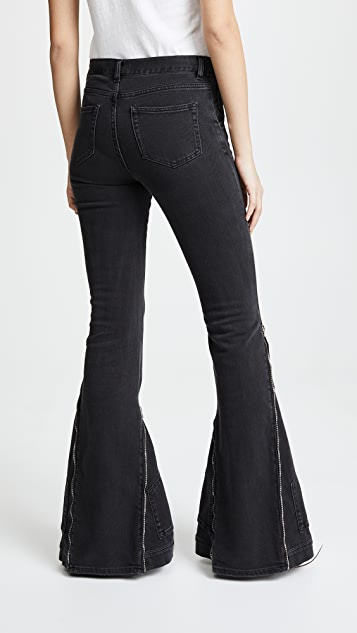 Faith Connexion Zip Flare Jeans