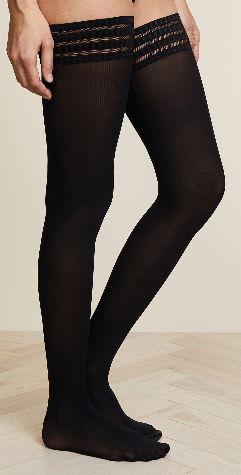 FALKE womens Pure Matte 50 Stayup Thigh High Stocking Tights