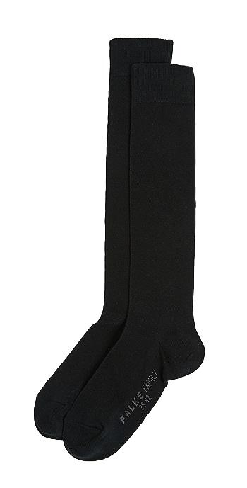 Falke Family Knee High Socks - Black