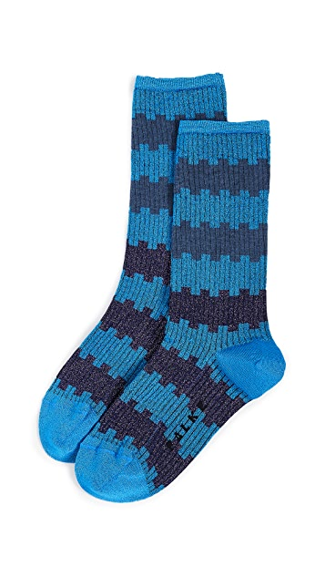 Falke Metallic Stripe Socks