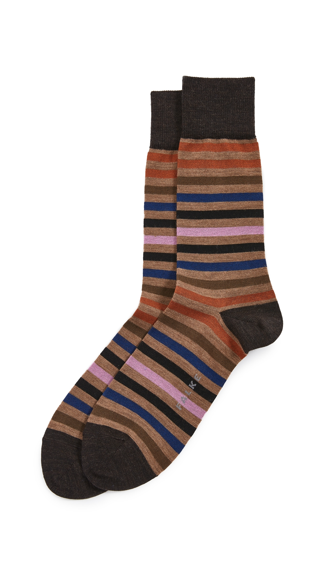 Tinted Stripe Crew Socks